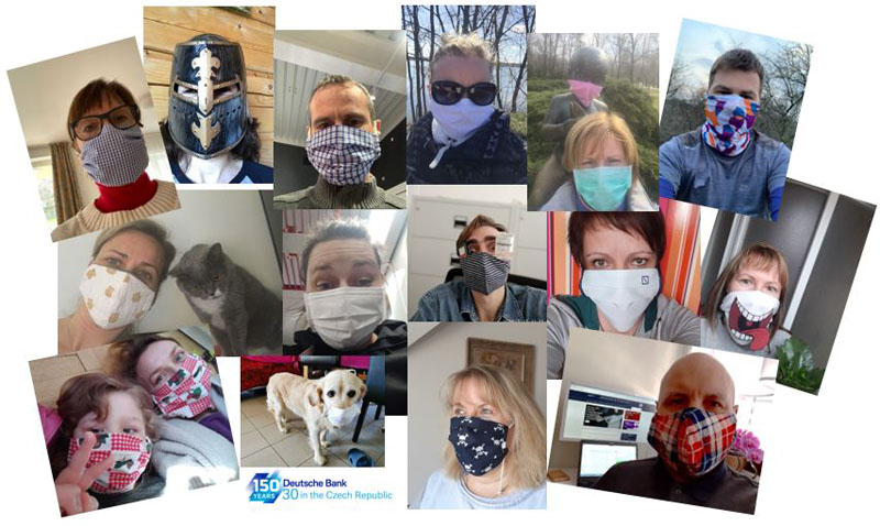 deutsche-bank-prague-face-mask-challenge
